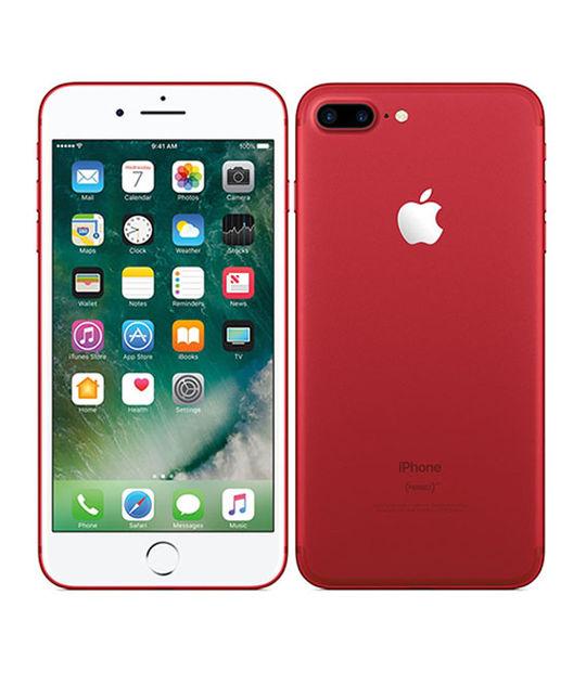 【中古】【安心保証】 docomo iPhone7Plus[128G] レッド SIMロック解除済