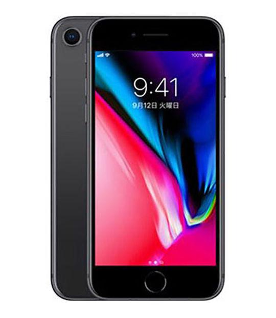 【中古】【安心保証】 docomo iPhone8 64GB スペースグレイ SIMロック解除済