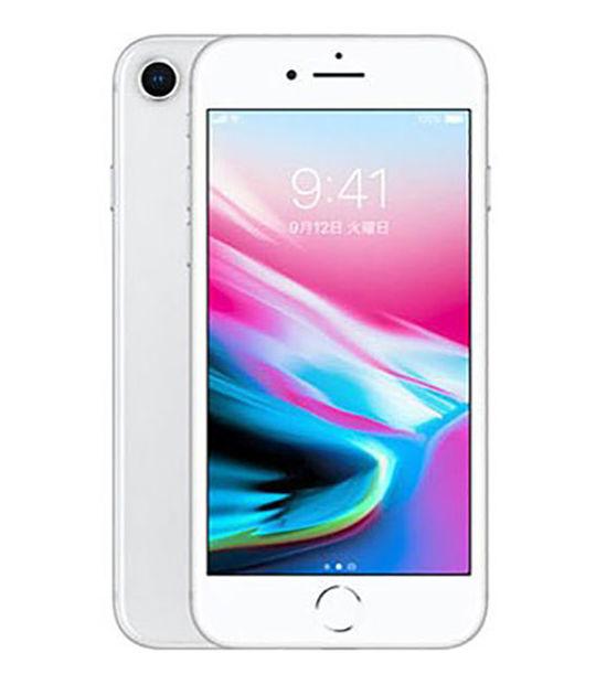 【中古】【安心保証】 docomo iPhone8 64GB シルバー SIMロック解除済