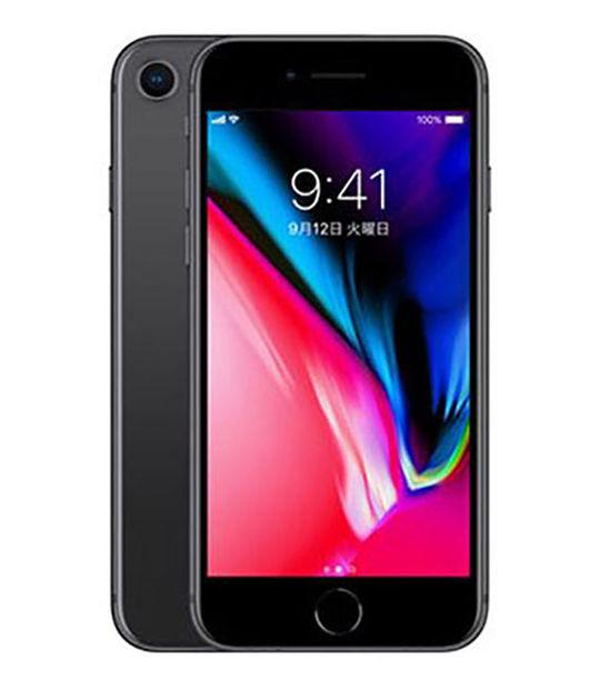 【中古】【安心保証】 SoftBank iPhone8 64GB スペースグレイ SIMロック解除済