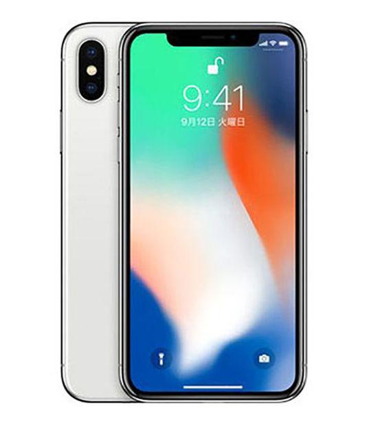 【中古】【安心保証】 docomo iPhoneX[256G] シルバー SIMロック解除済
