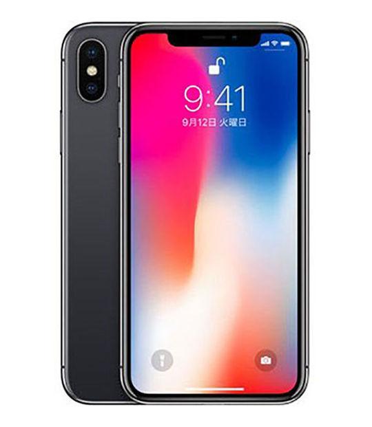 【中古】【安心保証】 au iPhoneX[64G] スペースグレイ SIMロック解除済