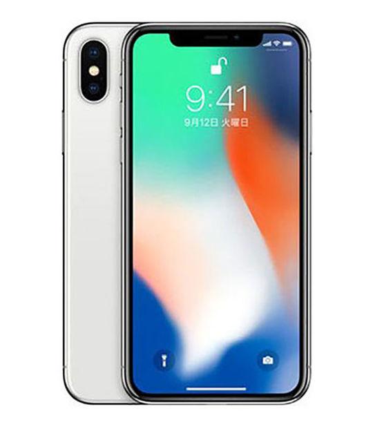 【中古】【安心保証】 SoftBank iPhoneX[64G] シルバー SIMロック解除済