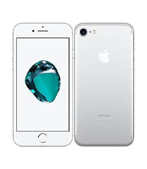 【中古】【安心保証】 au iPhone7[32GB] シルバー