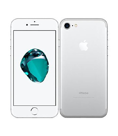 【中古】【安心保証】 au iPhone7[128GB] シルバー