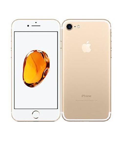 【中古】【安心保証】 au iPhone7[128GB] ゴールド