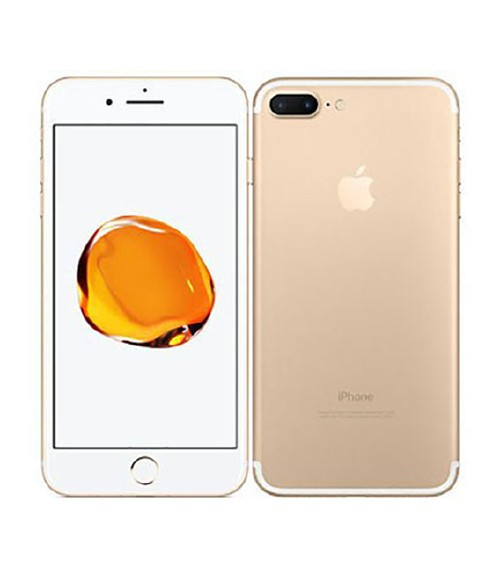【中古】【安心保証】 au iPhone7Plus[128GB] ゴールド
