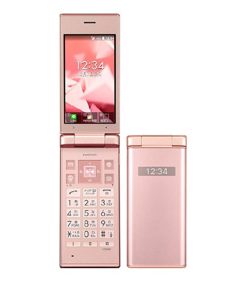 【中古】【安心保証】 Y!mobile DIGNO ケータイ 702KC ピンク
