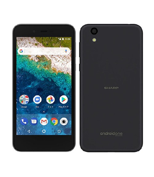 【中古】【安心保証】 Y!mobile Android One S3 ネイビーブラック