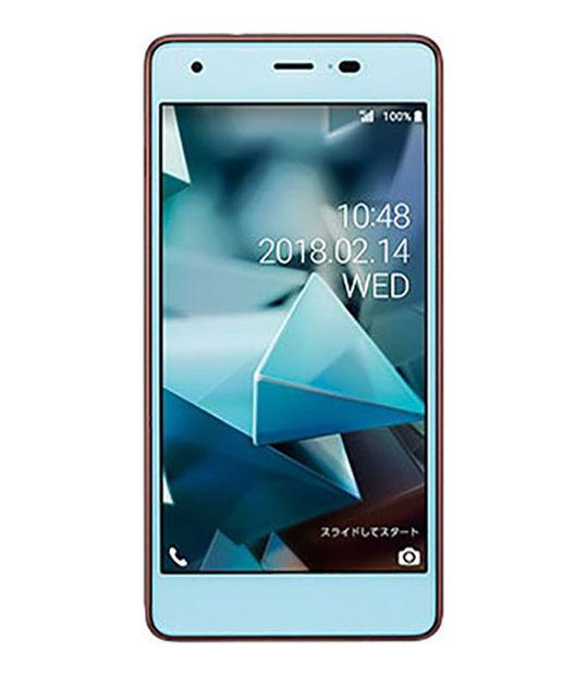 【中古】【安心保証】 UQモバイル KYV44 ライトブルー