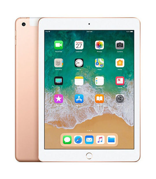 【中古】【安心保証】 SoftBank 9.7iPad 6[セルラー128G] ゴールド