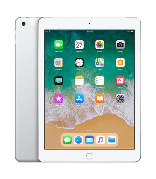【中古】【安心保証】 SoftBank 9.7iPad 6[セルラー32G] シルバー