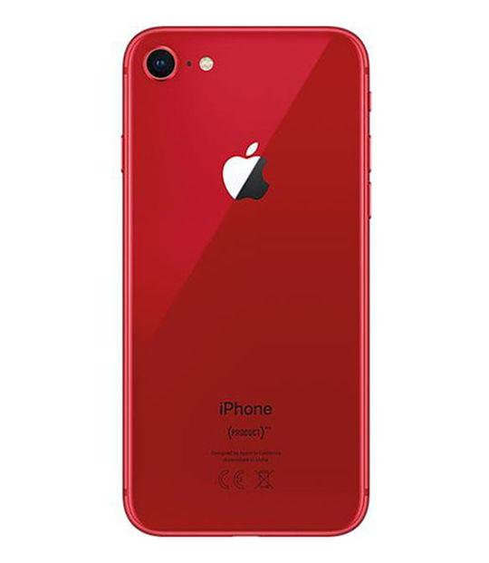 【中古】【安心保証】 au iPhone8[64G] レッド