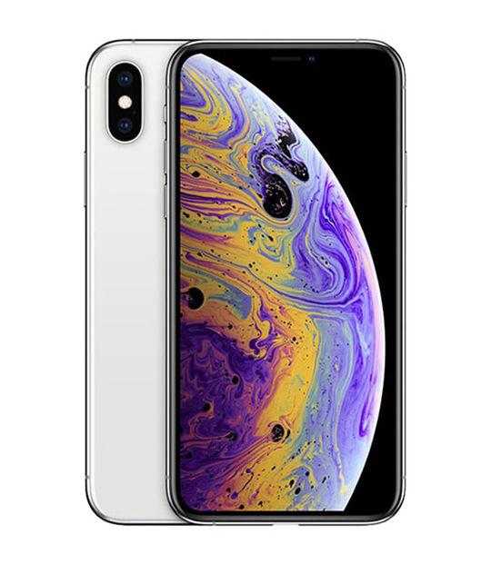 【中古】【安心保証】 au iPhoneXS[64G] シルバー