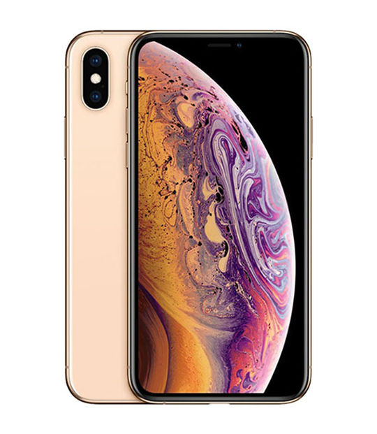 【中古】【安心保証】 au iPhoneXS[512G] ゴールド