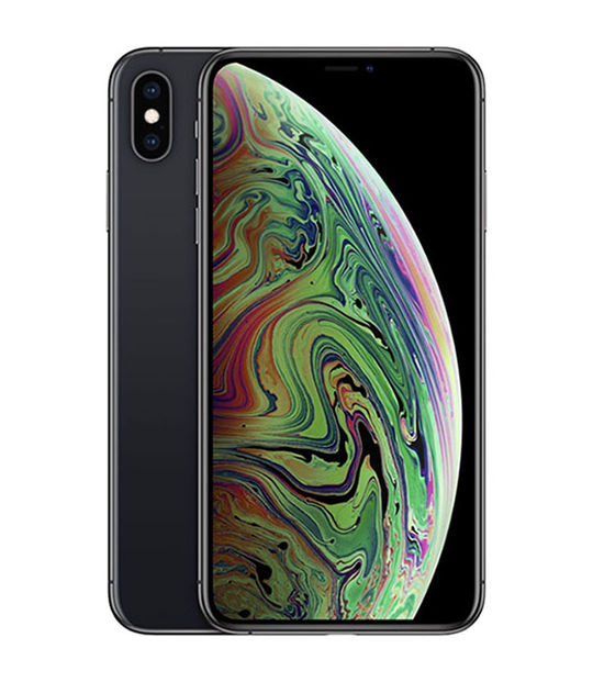 【中古】【安心保証】 docomo iPhoneXSMax[64G] グレイ