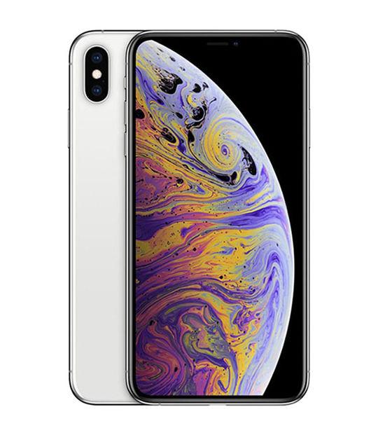 【中古】【安心保証】 au iPhoneXSMax[64G] シルバー