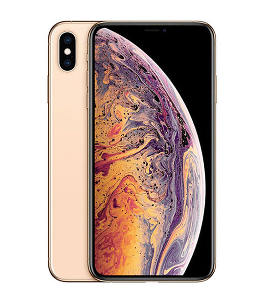 【中古】【安心保証】 SoftBank iPhoneXSMax[256G] ゴールド SIMロック解除済