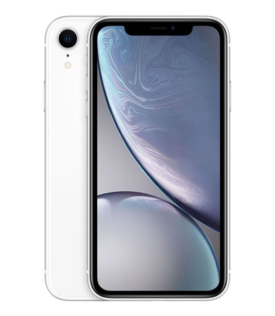 【中古】【安心保証】 au iPhoneXR[128GB] ホワイト