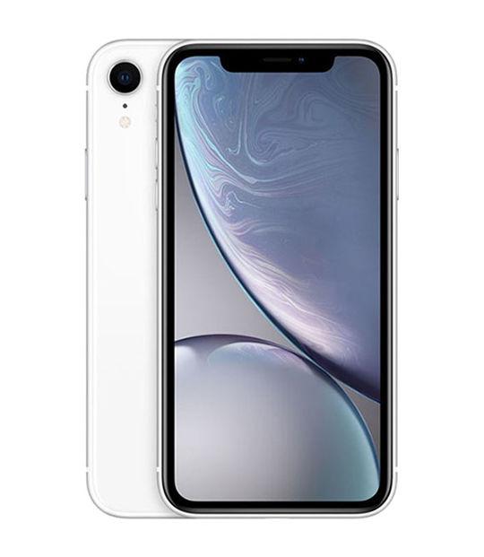 【中古】【安心保証】 au iPhoneXR[256G] ホワイト SIMロック解除済