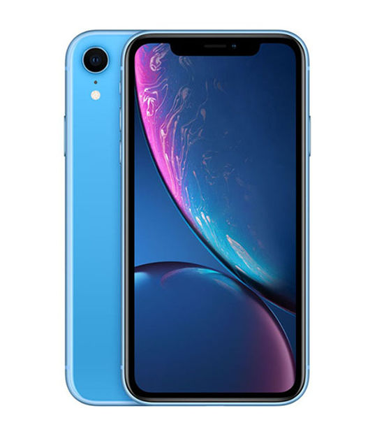 【中古】【安心保証】 au iPhoneXR[64GB] ブルー