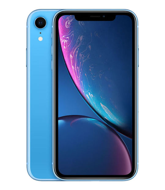 【中古】【安心保証】 SoftBank iPhoneXR[64G] ブルー