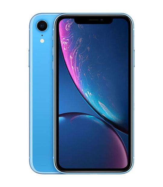 【中古】【安心保証】 docomo iPhoneXR[128G] ブルー SIMロック解除済