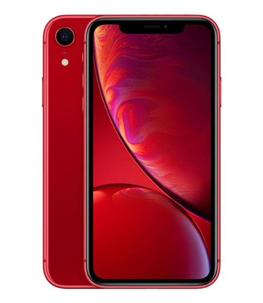 【中古】【安心保証】 SoftBank iPhoneXR[64G] レッド