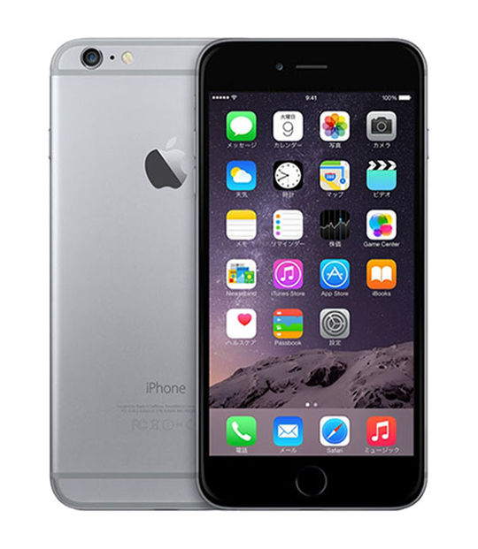 【中古】【安心保証】 SoftBank iPhone6Plus[16G] スペースグレイ
