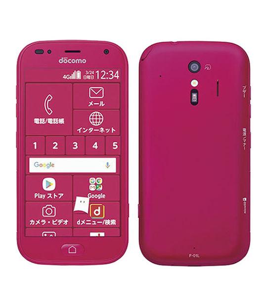 らくらくホン らくらくスマートフォンme F-01L(ピンク)