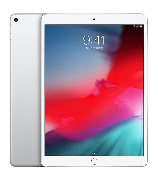 【中古】【安心保証】 SoftBank 10.5iPad Air 3[セルラー64G] シルバー
