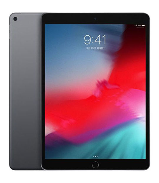 【中古】【安心保証】 SoftBank 10.5iPad Air 3[セルラー256G] グレイ