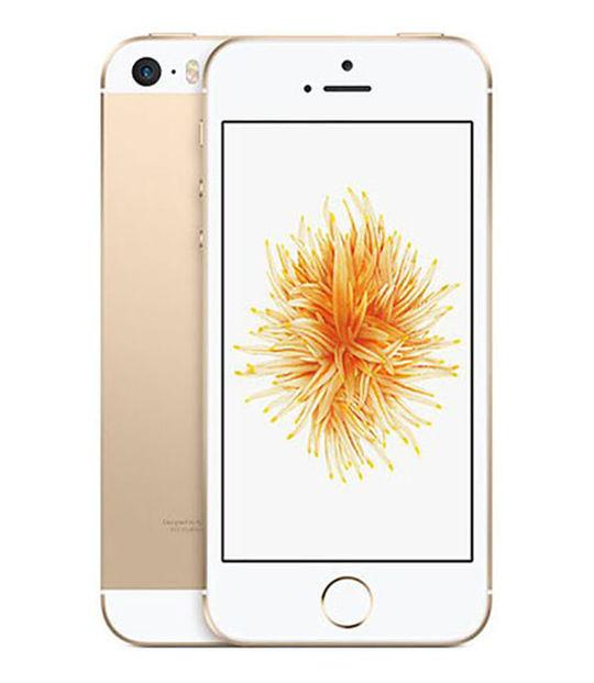 【中古】【安心保証】 UQモバイル iPhoneSE[128G] ゴールド SIMロック解除済