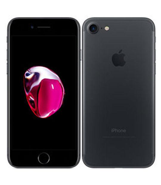 【中古】【安心保証】 UQモバイル iPhone7[32G] ブラック SIMロック解除済