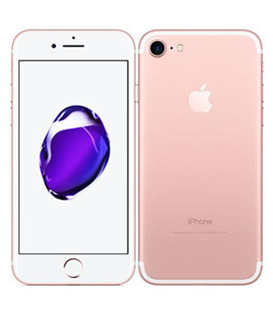【中古】【安心保証】 UQモバイル iPhone7[128G] ローズゴールド SIMロック解除済