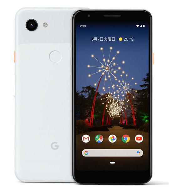 【中古】【安心保証】 SIMフリー Pixel 3a[64G] クリアホワイト