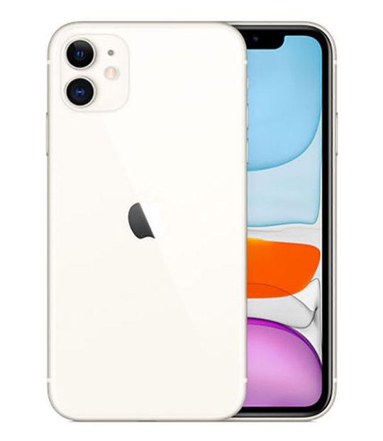 【中古】【安心保証】 au iPhone11[64G] ホワイト SIMロック解除済