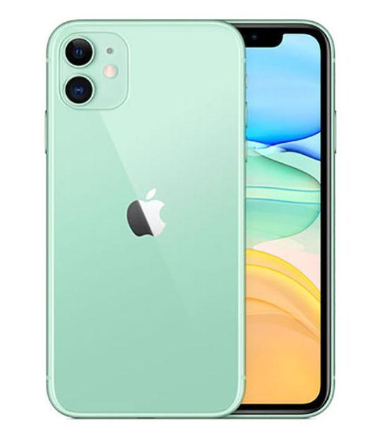【中古】【安心保証】 au iPhone11[128G] グリーン