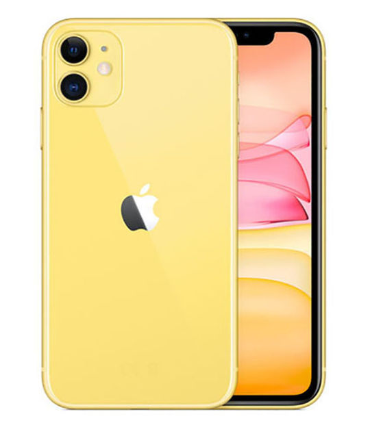【中古】【安心保証】 au iPhone11[128G] イエロー SIMロック解除済