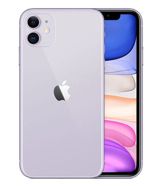 【中古】【安心保証】 docomo iPhone11[64G] パープル SIMロック解除済