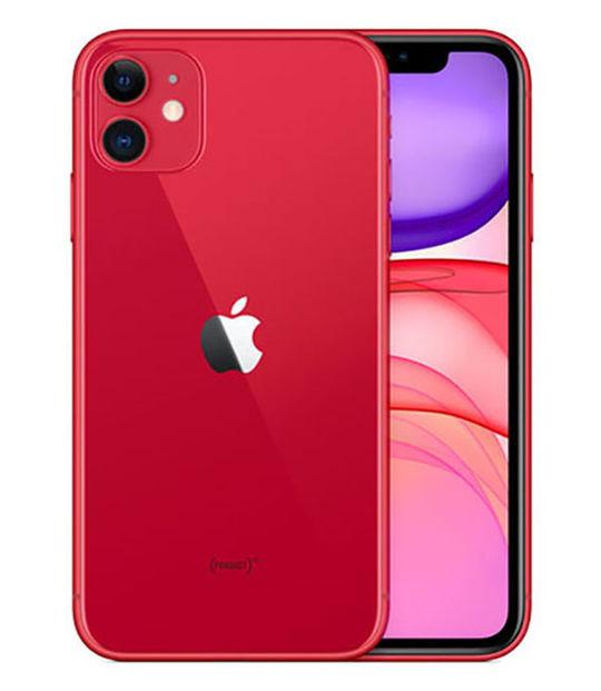【中古】【安心保証】 docomo iPhone11[64G] レッド