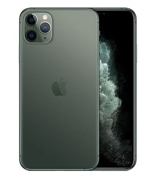 【中古】【安心保証】 SoftBank iPhone11 Pro Max[64G] グリーン SIMロック解除済