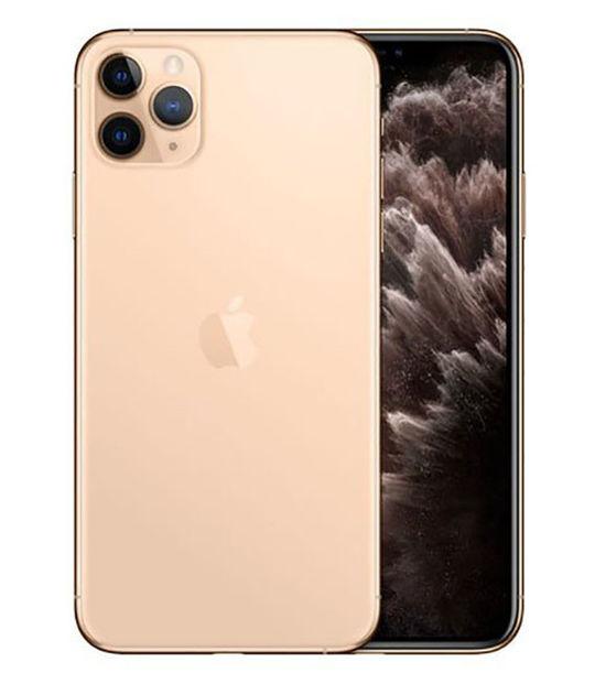 【中古】【安心保証】 au iPhone11 Pro Max[256G] ゴールド SIMロック解除済
