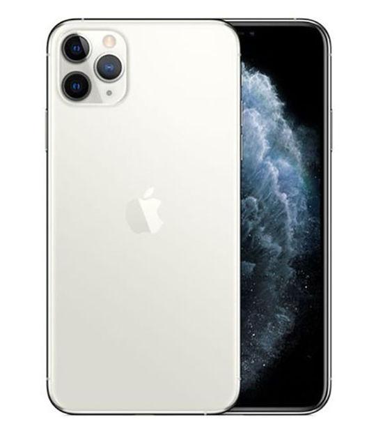 【中古】【安心保証】 au iPhone11 Pro Max[256G] シルバー SIMロック解除済