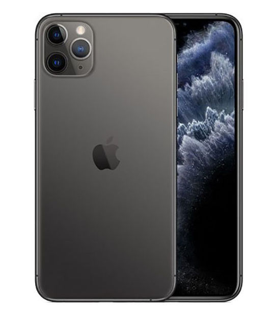【中古】【安心保証】 au iPhone11 Pro Max[512G] グレイ SIMロック解除済