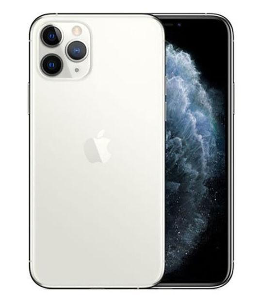 【中古】【安心保証】 au iPhone11 Pro[256G] シルバー SIMロック解除済
