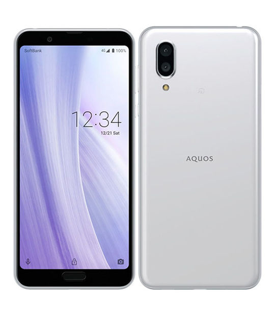 【中古】【安心保証】 SoftBank AQUOS sense3 plus ホワイト