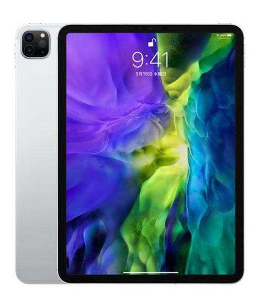 【中古】【安心保証】 SoftBank iPadPro-11_2[セルラー128G] シルバー
