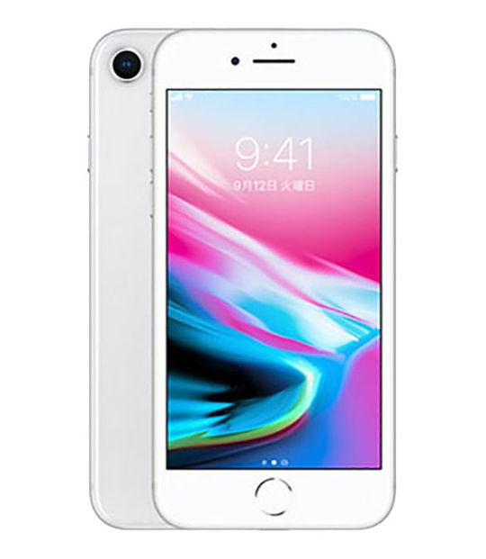 【中古】【安心保証】 au iPhone8[64G] シルバー【特価品】