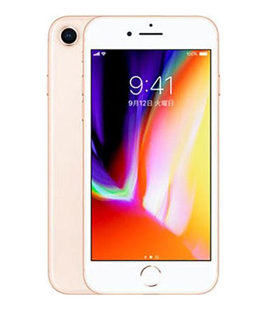 【中古】【安心保証】 UQモバイル iPhone8[64G] ゴールド